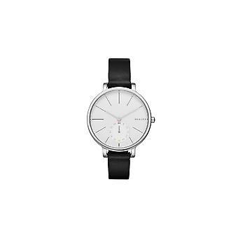 Skagen Watches Skw2435 Hagen Silver & Brown Leather Ladies Watch