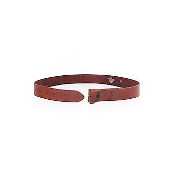 Bibi Leather Belt For Attaching Buckle
