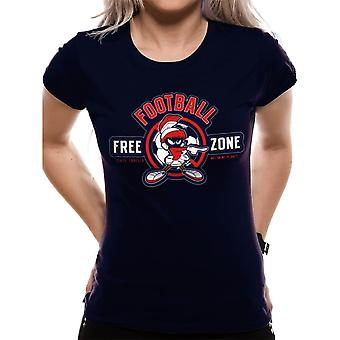 Women's Looney Tunes Anti-Football Marvin Fitted T-Shirt