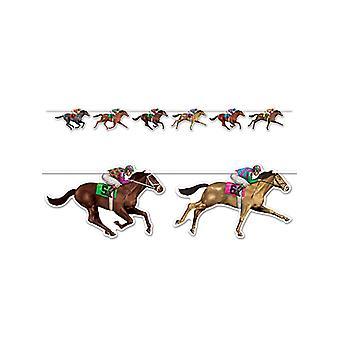 "Horse Racing Streamer 10½"" x 6'"