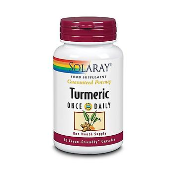 Solaray Turmeric One Daily 600mg Capsules 30 (82372)