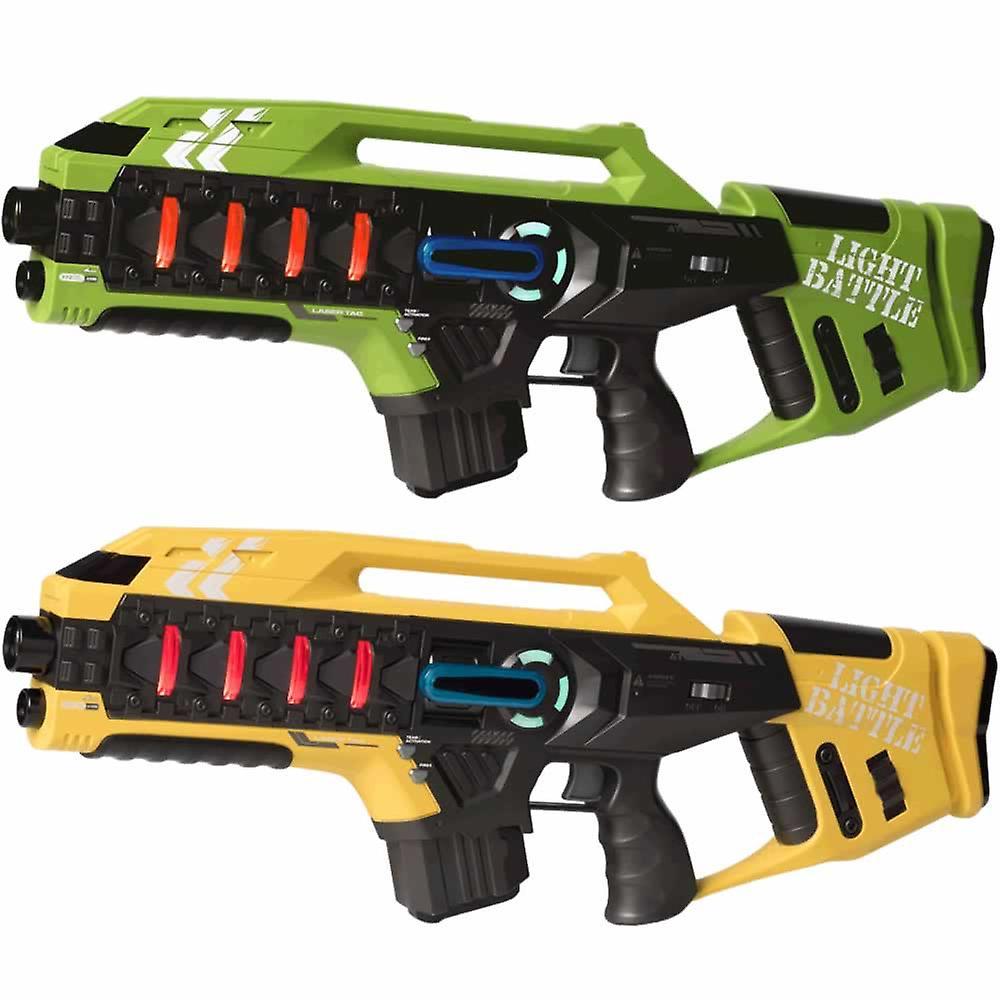 2 Anti-Cheat lasergame geweren - groen en geel