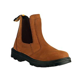 Amblers Safety Mens FS131 Water Resistant Pull su Safety Dealer Boot Brown