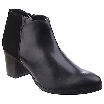 Riva Womens Claudia Leather/Suede Ankle Boot Black