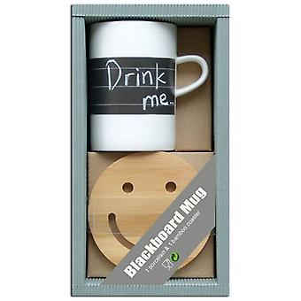 Wellindal подарочный набор таблицы фарфоровая с Шифер (кухня, домашнее хозяйство, кружки и миски)