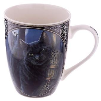 Kot z miotłą Chiny Kubek przez Lisa Parker