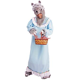 Farmor Big Bad Wolf Little Red Riding Hood Story bok vecka roliga Mens kostym