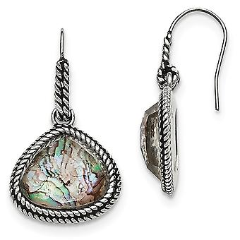 Stainless Steel Polished Synthetic Abalone Earrings Jewelry Gifts for Women