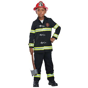 Junior Fire Chief Fireman Firefighter Rescuer Hero Book Week Boys Costume