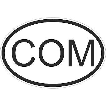 Sticker Sticker Sticker Sticker Flag Oval Code Country Car Moto Comoros Com Com