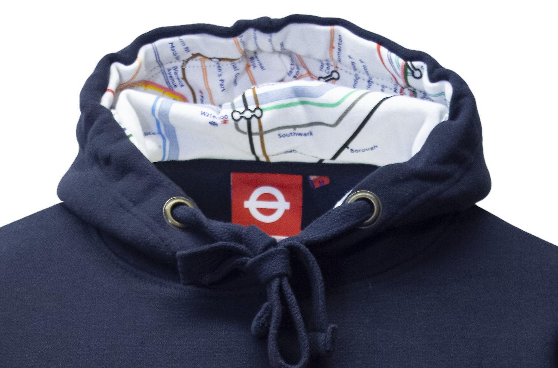 Tfl™129 licensed unisex mind the gap™ embroidered hooded sweatshirt