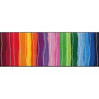 Salon lion foot mat washable pure style wavy lines colorful 60 x 180 cm SLD1075-060 x 180
