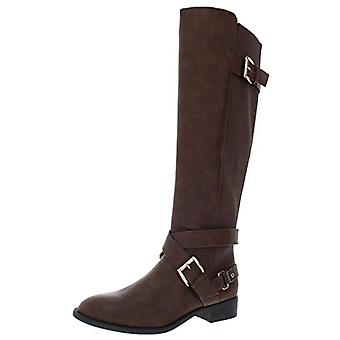 Thalia Sodi Womens Vada Faux Leather Over-The-Knee Riding Boots