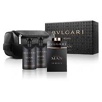 Bvlgari man in zwarte gift set 100ml EDP + 100ml aftershave balsem + etui