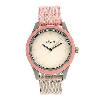 Crayo agradável unisex Watch-rosa claro/cinza