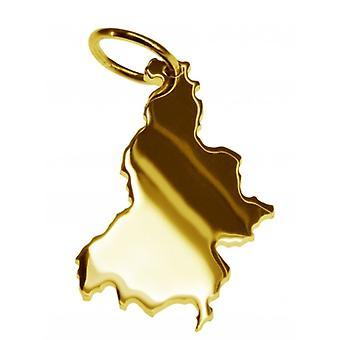 Hänge i guldgult-guld i form av Slovenien