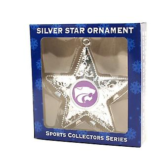 Kansas State Wildcats NCAA Sports Collectors Series Silver Star Ornament