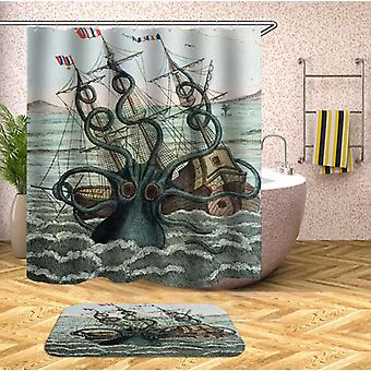 Kraken Attack dusj Curtain
