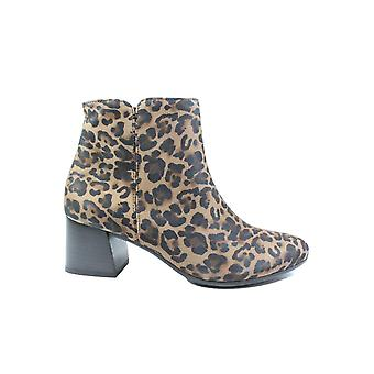 Paul Green 9609-01 Leopard Print Suede Leather Womens Salto Ankle Boots