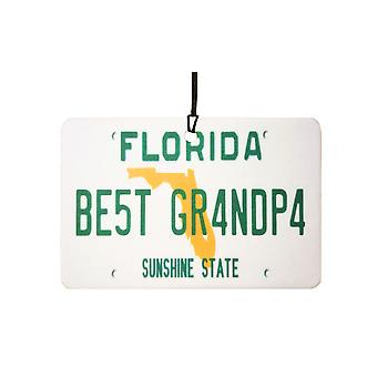 Florida - Best Grandpa License Plate Car Air Freshener