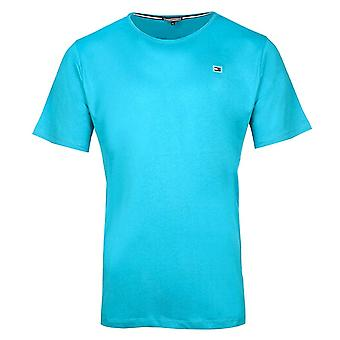 Tommy Hilfiger Rubber Flag Logo Crew Neck T-Shirt, Atomic Blue, X-Large