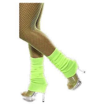 Neon Green Leg Warmers 80s Dance Fancy Dress Costume Accessory