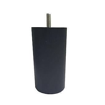 Jambe de meubles ronds en plastique noir 12 cm (M8)
