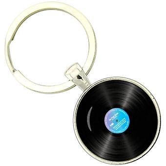 Bassin and Brown Vinyl Disc Key Ring -  Black/Blue