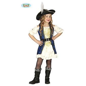 Guirca Deluxe pirate dress costume for girls Carnival Seeräuberin