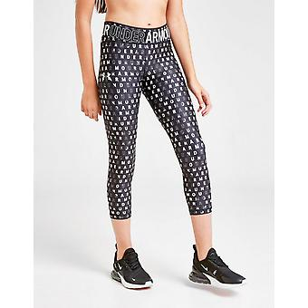 New Under Armour Girls' All Over Print Tights Junior Black