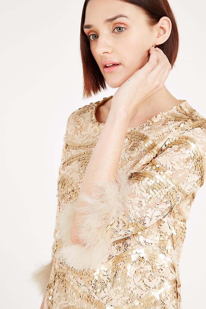 Louche Luxe Yorba Sequin Gold Dress