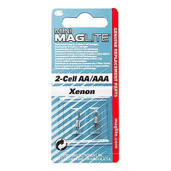 Genuine  Mini Maglite AA + AAA 2 cell replacement bulbs multipack options