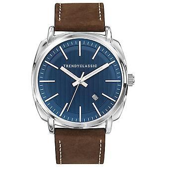 Horloge Trendy Classic CC1040 - 05D - leder Brown stalen man