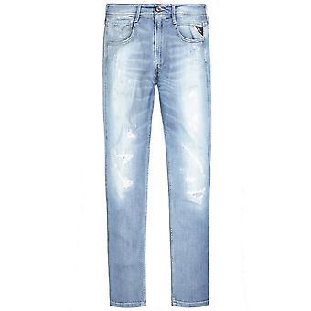 Replay Anbass i alderen 20 nødlidende jeans lyseblå