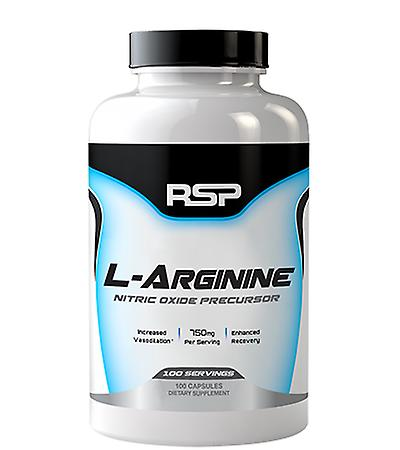 Rsp l-arginine nitric oxide production, muscle pumps, vasodilation, muscle recovery (100 capsules)