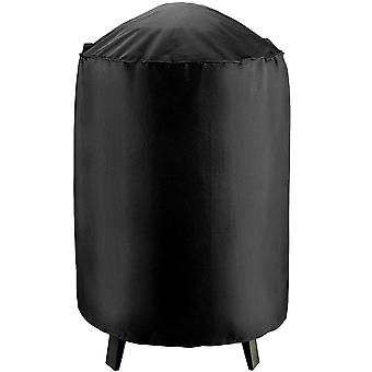 """Outdoor Round Smoker Grill Cover - 19""""Diameter x 39""""H - Electric, Propane, Pellet, or Charcoal BBQ Smoker Cover - UV Protected, and Weather Resistant Storage Cover - Black"""