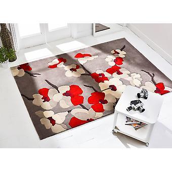 Unendliche Blüte Teppich - rechteckig - rot