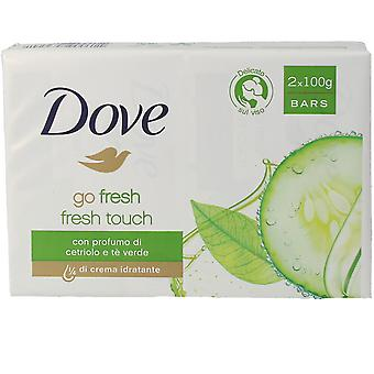 Dove Go Fresh Soap Crema Pepino & Te Green Set 2 X 100 Gr Unisex