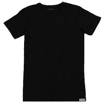 Diesel Michael V Neck T-Shirt - Black