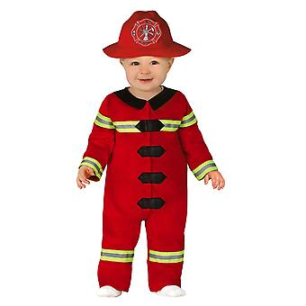 Toddlers Firefighter Fancy Dress Costume
