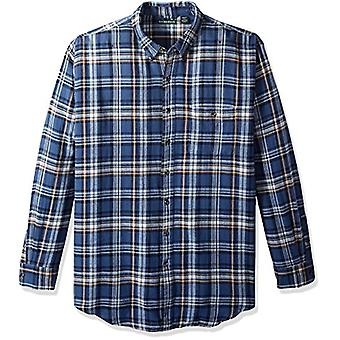 G.H. Bass & Co. Men's Big and Tall Fireside Flannel Plaid Long Sleeve Shirt, ...