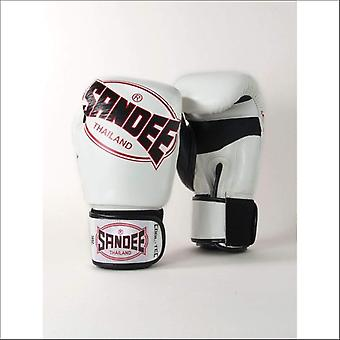 Sandee cool-tec muay thai boxing gloves - white