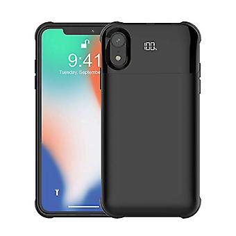 Roba certificata® iPhone XR 5500mAh Magnetic Powercase Powercase Powerbank Chargebank Custodia batteria Cover Case Digital Display Black