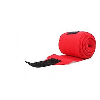 QHP Dark red wool Bandages (Pferde , Reitzubehör , Beine und schwanz , Bandagen)
