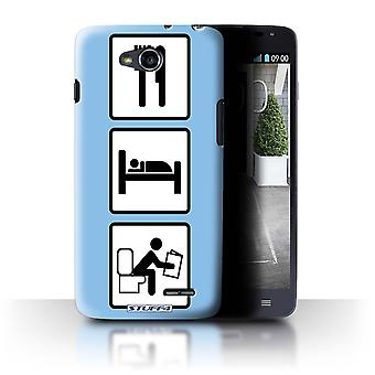 STUFF4 Case/Cover for LG L90/D405/Poop/Blue/Eat/Sleep