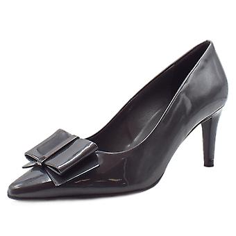 Peter Kaiser Rexa Dressy Pointed Toe Court Shoes In Carbon Mura