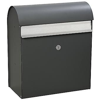 MEFA Letterbox Jade (870) Estrutura cinza basalto RAL 7012 Caixa de correio de parede