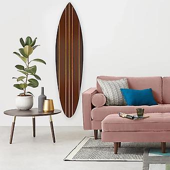 Multi Tonale Brown Stripe Surfboard Wall Art