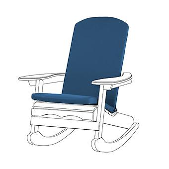 Gardenista Garden Premium Adirondack Chair Seat Pad | Secure Ties | Foam Filled | Water Resistant Zipped Cover | Soft Durable and Comfy (Blue)