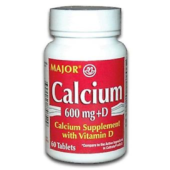 Major calcium, 600 mg, with vitamin d3, tablets, 60 ea